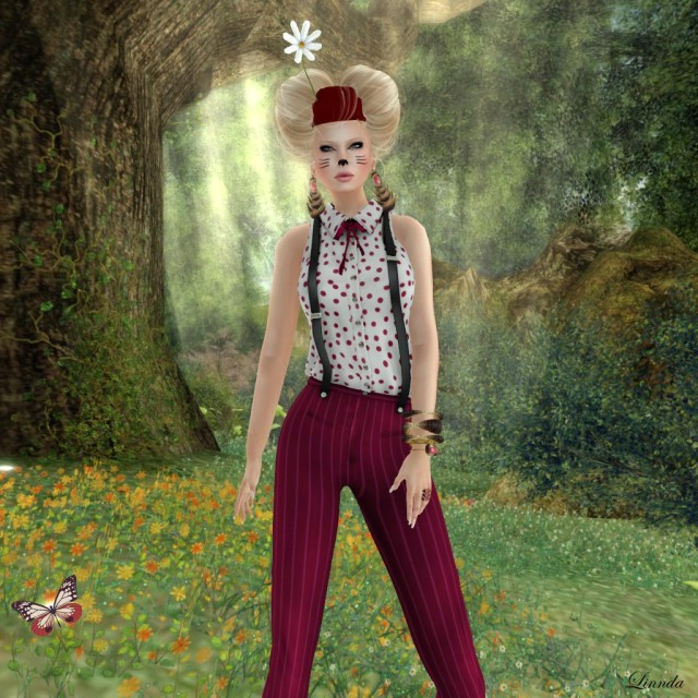 Gizza Suspenders Outfit Dotty